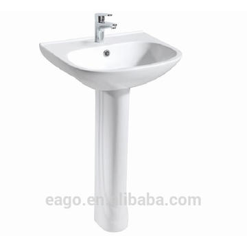 EAGO fregadero de cerámica de alta calidad con pedestal BD355E / ZA3550-F