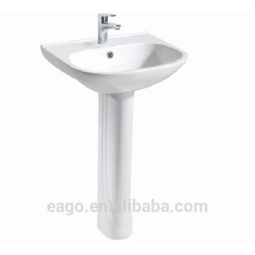 EAGO high quality Ceramic sink with pedestal BD355E/ZA3550-F