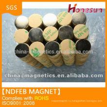 Спеченные Неодимовый Постоянный постоянного магнита с клеем N42 D15x1mm