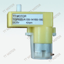 TGP plastic gearbox plus A130 permanent magnet DC motor TGP02S-A130