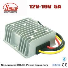 Fuente de alimentación impermeable del convertidor de IP68 12V a 19VDC 5A DC-DC