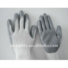 13 Gauge Nylon Industriesicherheit Nitril Beschichtete Arbeitshandschuhe ZM818-H