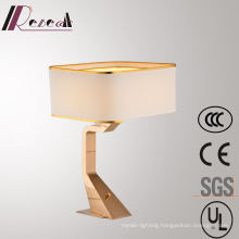 Eucorative Hotel Decorative Fabric Bedside Stainless Steel Reading Table Lamp