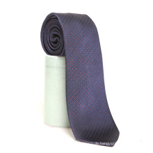 Mens Luxus Mode Private Label Navy Red Polka Dots Seide gewebt Krawatte