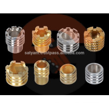 Brass injection molding inserts for PPR pipe fittings