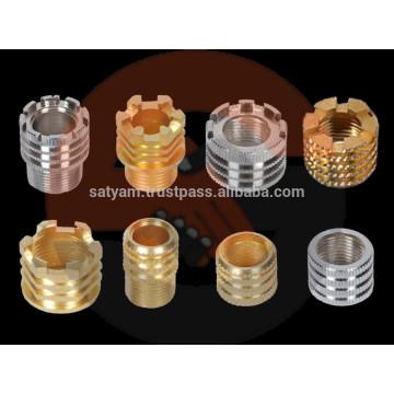 Inserções de moldagem de latão para PPR, CPVC, UPVC, acessórios para tubos de PVC