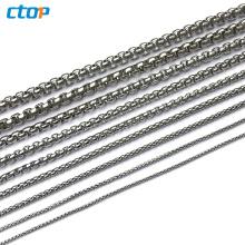 wholesale fancy decorative fashion selling decorative silver metal chain wholesale steel chain chains decoration