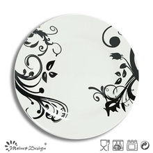 White Porcelain Wholesale Full Decal Dinner Plate