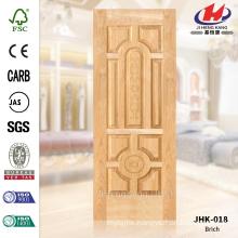 JHK-018 Economic Interior Pit Tongue Door Skin Bathroom Project Natural Wood Veneer Betula Alnoide Door Panel