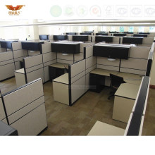 Good Quality Call Center L Shape Workstations Office Cubicle (HY-29854)