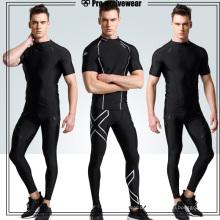 Großhandel Sport Kompression Fitness Fitnessstudio Hosen für Männer