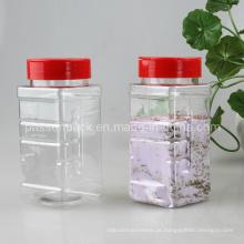 500ml pet plástico Spice jar com tampa Flip (PPC-PSB-76)