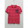 BOY'S 100% COTTON KNITTED YARN DYED POLO WITH PRINT
