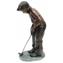 Bronze Boy Golf Statue for Sale