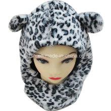 Chapeau en écharpe pour enfants Leopard Cubs Intégré