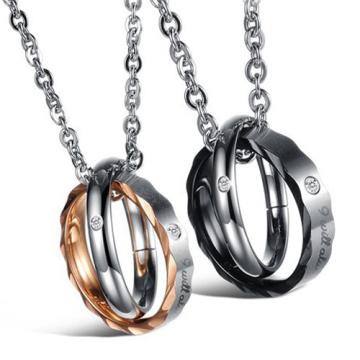 Золото 18k позолоченный кристалл круглый кулон ожерелье для женщин друзей из нержавеющей стали подвески