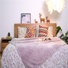 Gefärbte Stellen Bedruckte kurze Plüsch-Fleece-Bettdecken