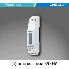 Однофазный DIN-рейку Тип электрического счетчика 1П счетчик Дисплей