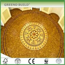 Lowes Palatial Medallion Noble House Suelo de parquet de madera