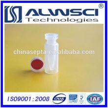 0,3 ml pp curto Snap micro-frasco limpo