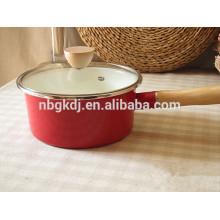 easy-clean printed enamel milk cooking pot