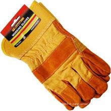 Travail de mécanicien / gants fonctionnants OEM de main-d'œuvre industrielle de protection de paume de doigt