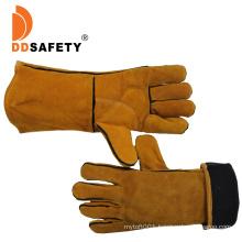 Ddsafety 2018 Yellow Cow Split Leather Gloves Welder Safety Working Gloves