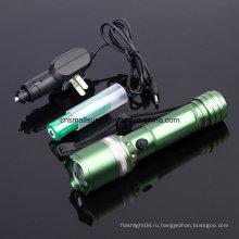Перезаряжаемый светодиодный фонарик с Ce, RoHS, MSDS, ISO, SGS