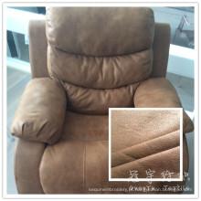 Tecido grosso de sofá couro poliéster 3 camadas coladas