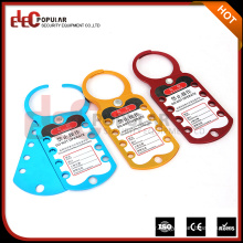 Elecpopular Latest Products In Market Safety Aluminim Alloy Labeled Lockout Hasp With All Colors