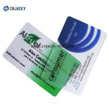 Logo Printing Transparent Business Cards / Gold Hot Foil Stamping VIP Card