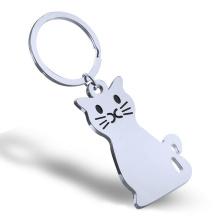 Mode New Style Metall Katzenform Schlüsselanhänger
