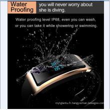 Smart Watch avec moniteur cardiaque étanche intégré USB-Wechat Interconnexion Moniteur de fréquence cardiaque La surveillance du sommeil Bluetooth Super - Long Standy