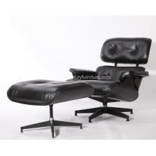 Yadea PV021-1-E Eames Lounge Stuhl Replik All Black Edition