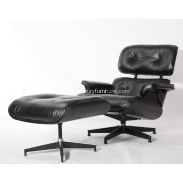 YADEA+PV021-1-D+Eames+Lounge+Chair+Replica+All+Black+Edition