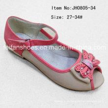 Los niños populares zapatos cabeza de pescado único zapatos zapatos planos (FF0808-34)