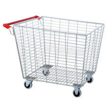 Rolling Galvanized Warehouse Wire Storage Cages with Wheels by Manufacturer