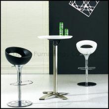 Прочный Белый пластик Верхний складной бар стол (СП-FT389)