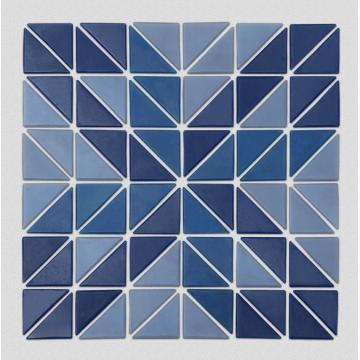 Настенная плитка с синим треугольником для бассейна
