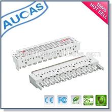 china factory best price new design whole sale 10 pair 3 pole arrester magazine / disconnection module