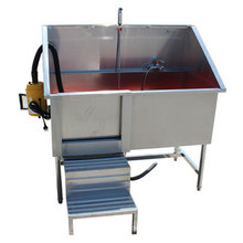304 Stainless Steel Pet Spa Bath Tub With Mobile Door And Blower For Dogs