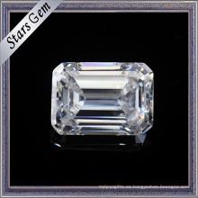 1.5 quilates 7.5X5.5mm Maravilloso Esmeralda Cut F Color blanco Moissanite Stones