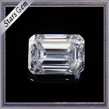 1.5 карат 7.5х5.5мм чудесной изумрудной огранки F Цвет Белый Муассанит камни