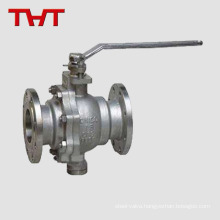 Stainless steel CF8M flanged ferrule ball valve