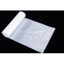 Weiße große Plastikmülltüte