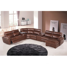 Кожаный диван из натуральной кожи из шезлонга с электроприводом (854)