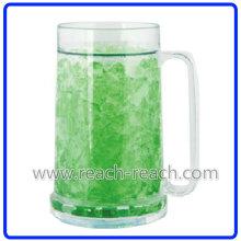 500ml Bier kalt Kunststoff doppelwandig Eis gefrorenen Becher (R-7004)