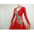 Robe de bal rouge vif