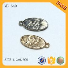 MC640 Ovale Logo-Tag Kleidung Schmuck Charme Großhandel