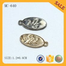 MC640 Овальный логотип тег одежды ювелирные изделия чары оптовой